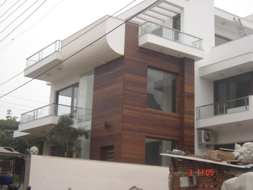 Budget homes exterior finish for buildings green cladding for Exterior wall tiles design india