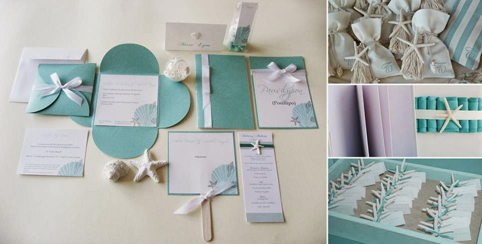 Matrimonio Tema Tiffany : Partecipazioni di nozze tema mare migliore collezione