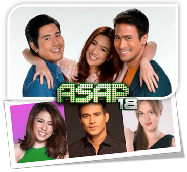 Angeline, Paulo and Sam Spread Good Vibes in ASAP 18 this January 13 Plus Toni, Piolo and Melissa B-day Bash