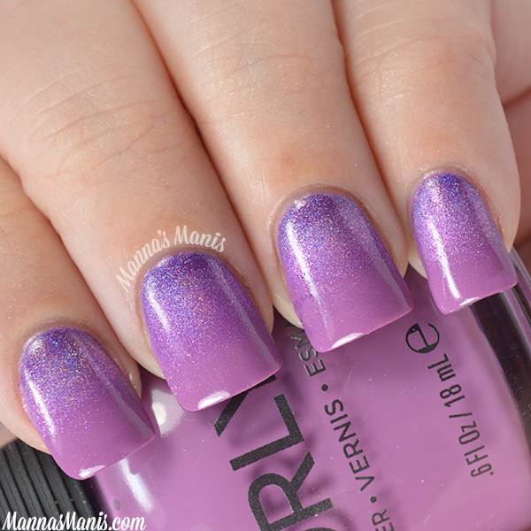 Orly Sugar High Glitter Gradient nail art