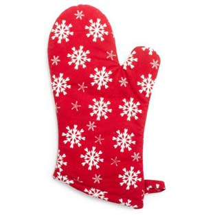 holiday snowflake oven mitt at sur la table