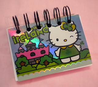 Hello Kitty Happy St Patrick's Day Ireland notepad