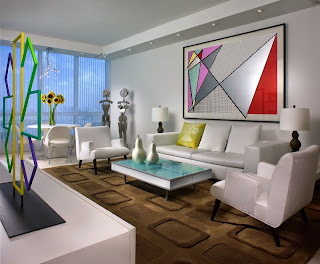 American Eclectic Theme Living Room Interior