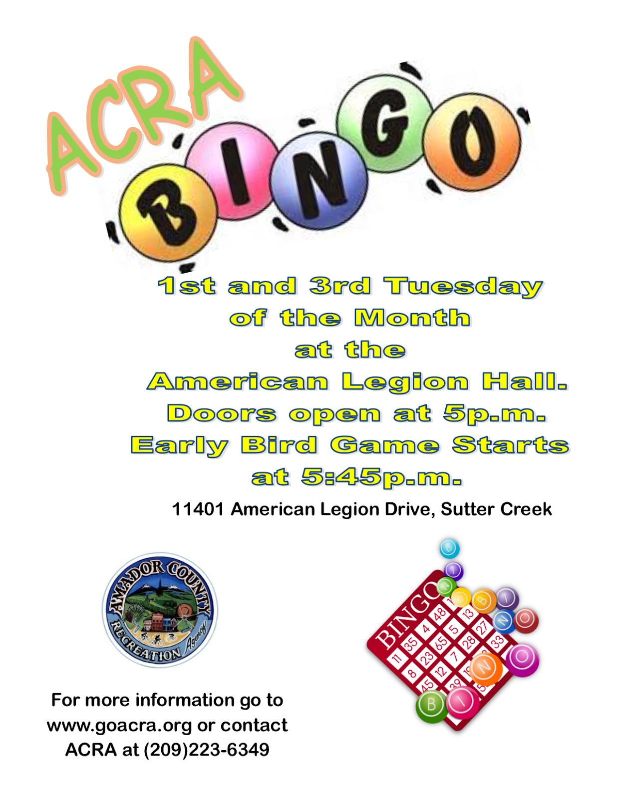 Bingo - 1st & 3rd Tuesdays