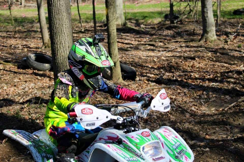 Alyssa racing her DRR at Mansfield on 4-26-15. She placed 3rd in the Jr Mini class! #DRR # DRRUSA #DRRracing green,black,pink,yellow,white, Mansfield, 3rdplace, Jr.mini,Alyssa, girls, racing