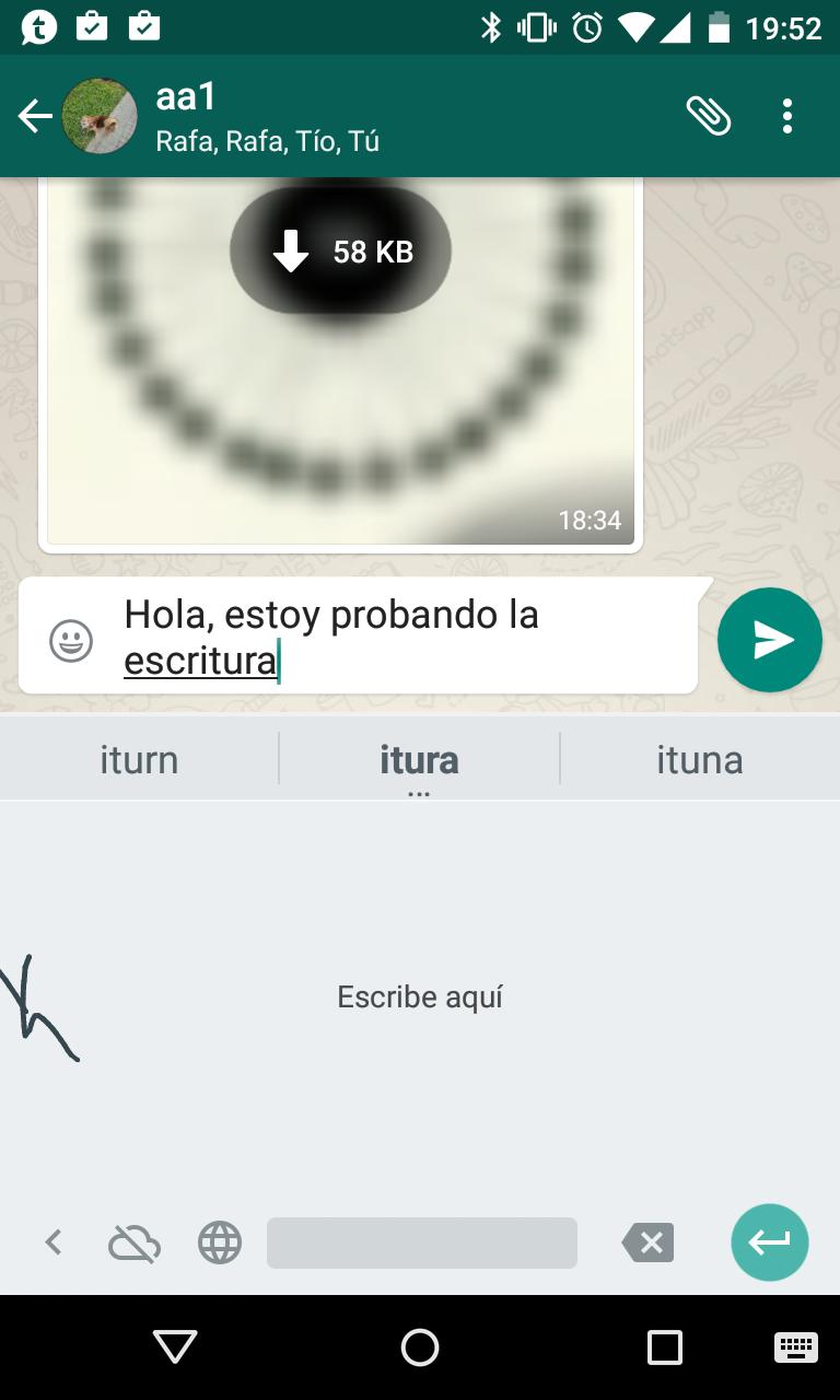 Aplicación de escritura a mano de Google.