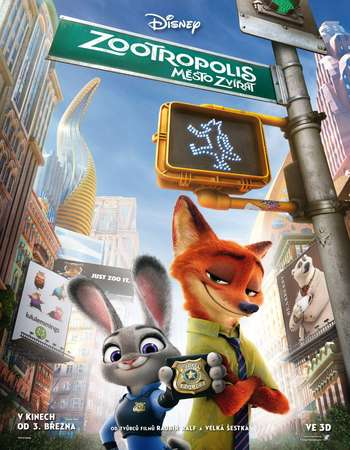 Poster Of Zootopia 2016 English 300MB HDTS  Free Download Watch Online Worldfree4u