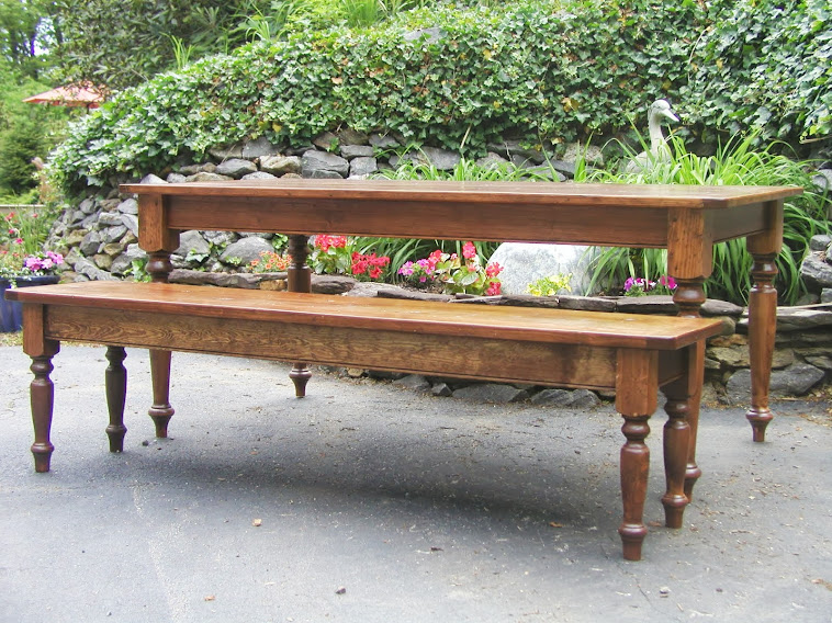 7 Ft Farm Table Finished With English Chestnut Stain