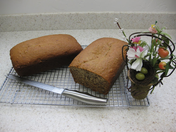 Warm banana bread, fresh from the oven