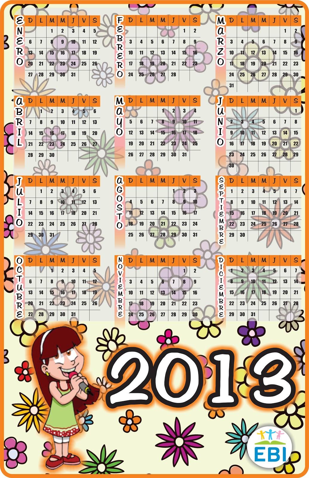 EBI México: Mas calendarios 2013