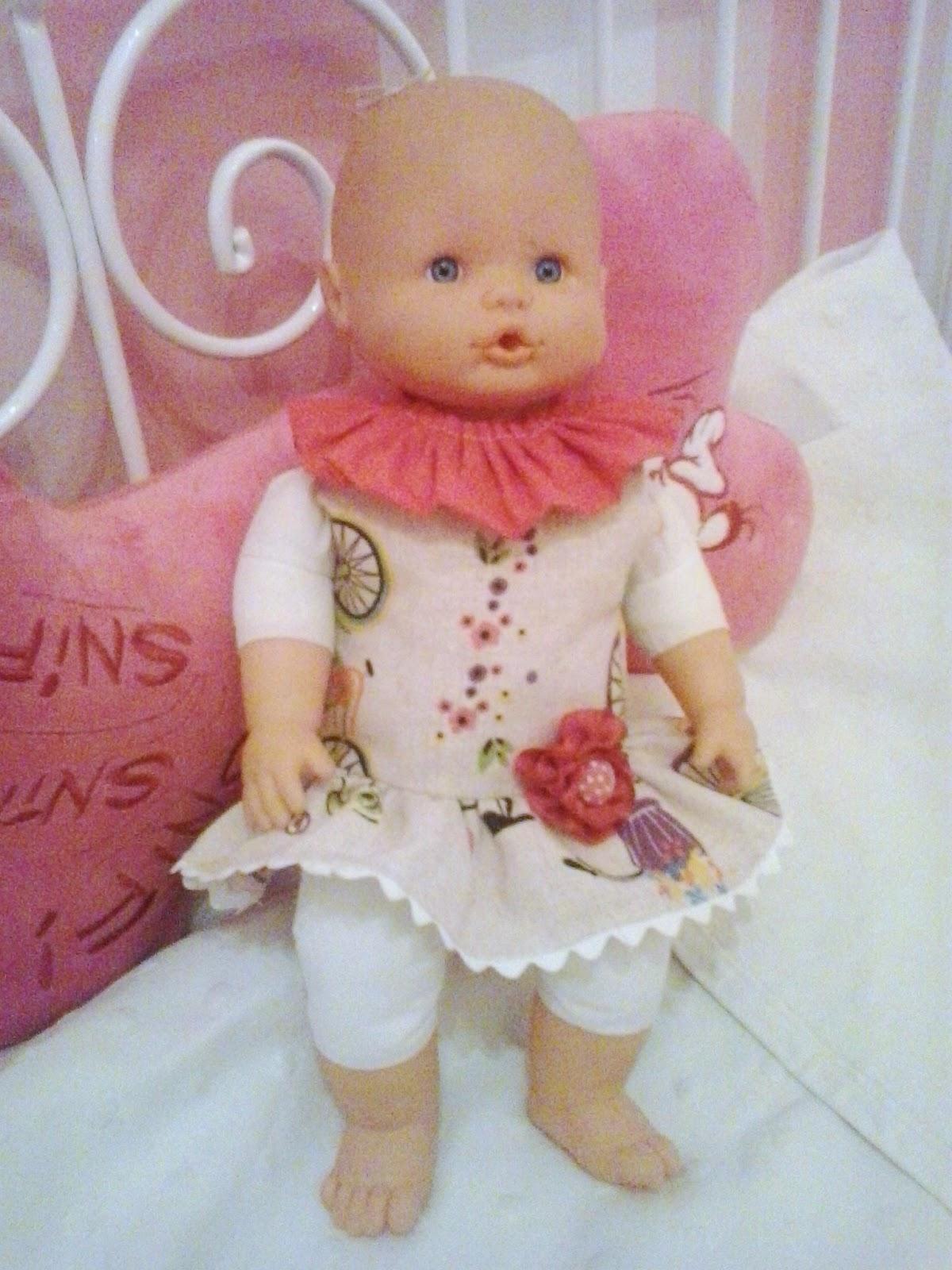 vestido talle bajo para muñeca nenuco