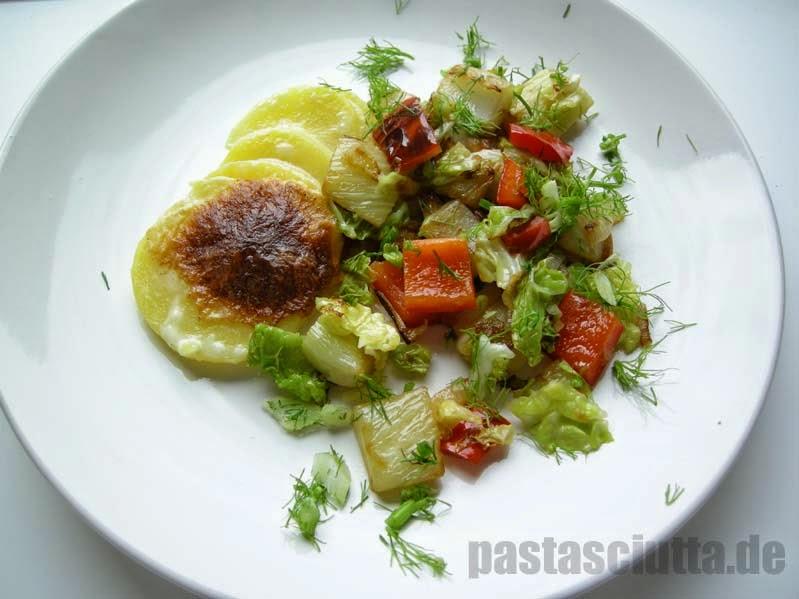 Kartoffelgratin mit Pfannengemüse