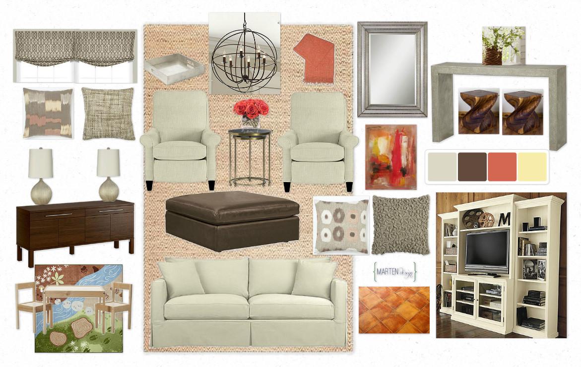 Marten design warm cozy kid friendly for Kid friendly living room designs