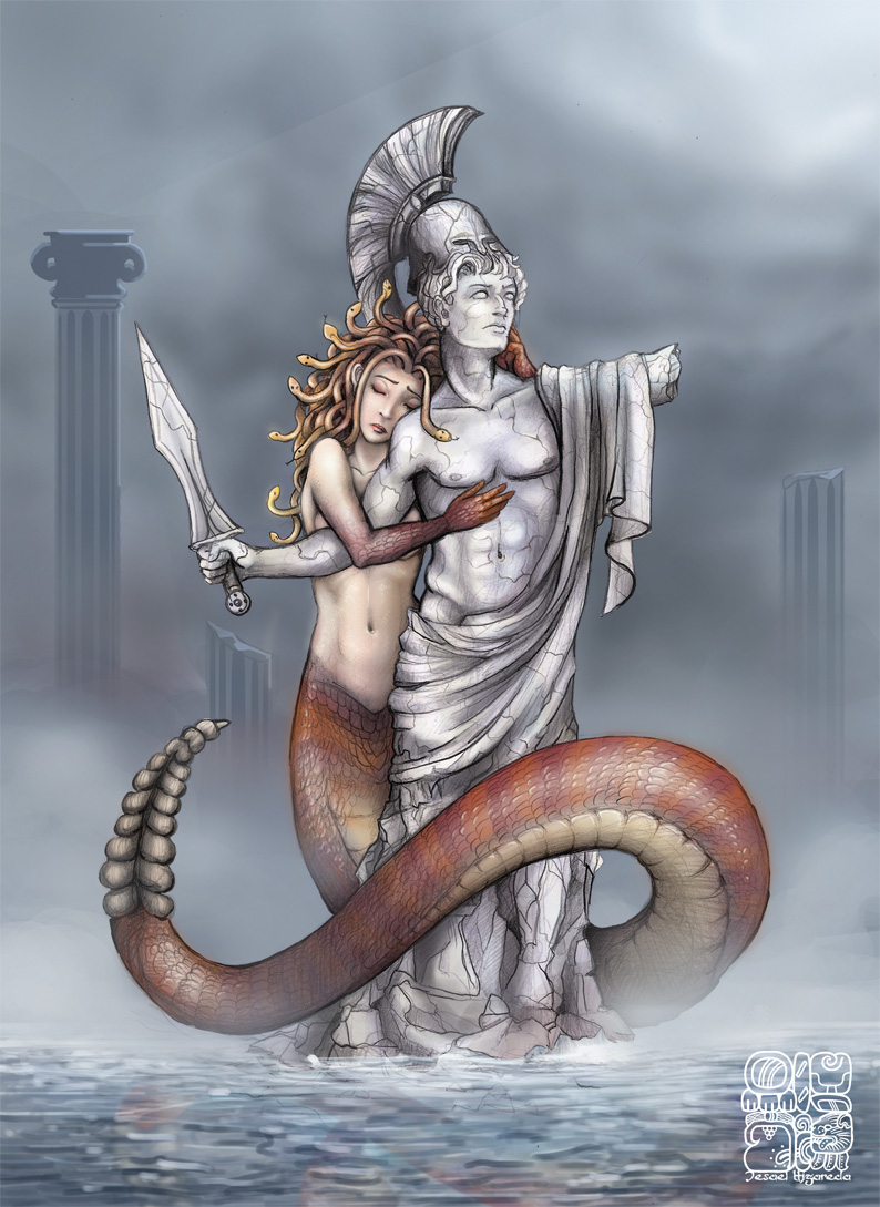 greek mythology medusa vs the Medusa – gorgon is one of the oldest and most popular ancient myths medusa in greek mythology is referenced as one of the three gorgons of these three sisters, medusa was the mortal one her other name was gorgon, meaning tough glance.