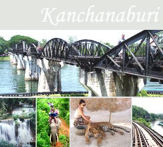 Publicidad de las excursiones de la zona de Canchanaburi