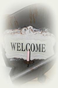 Welcome  mit Kerzenhalter