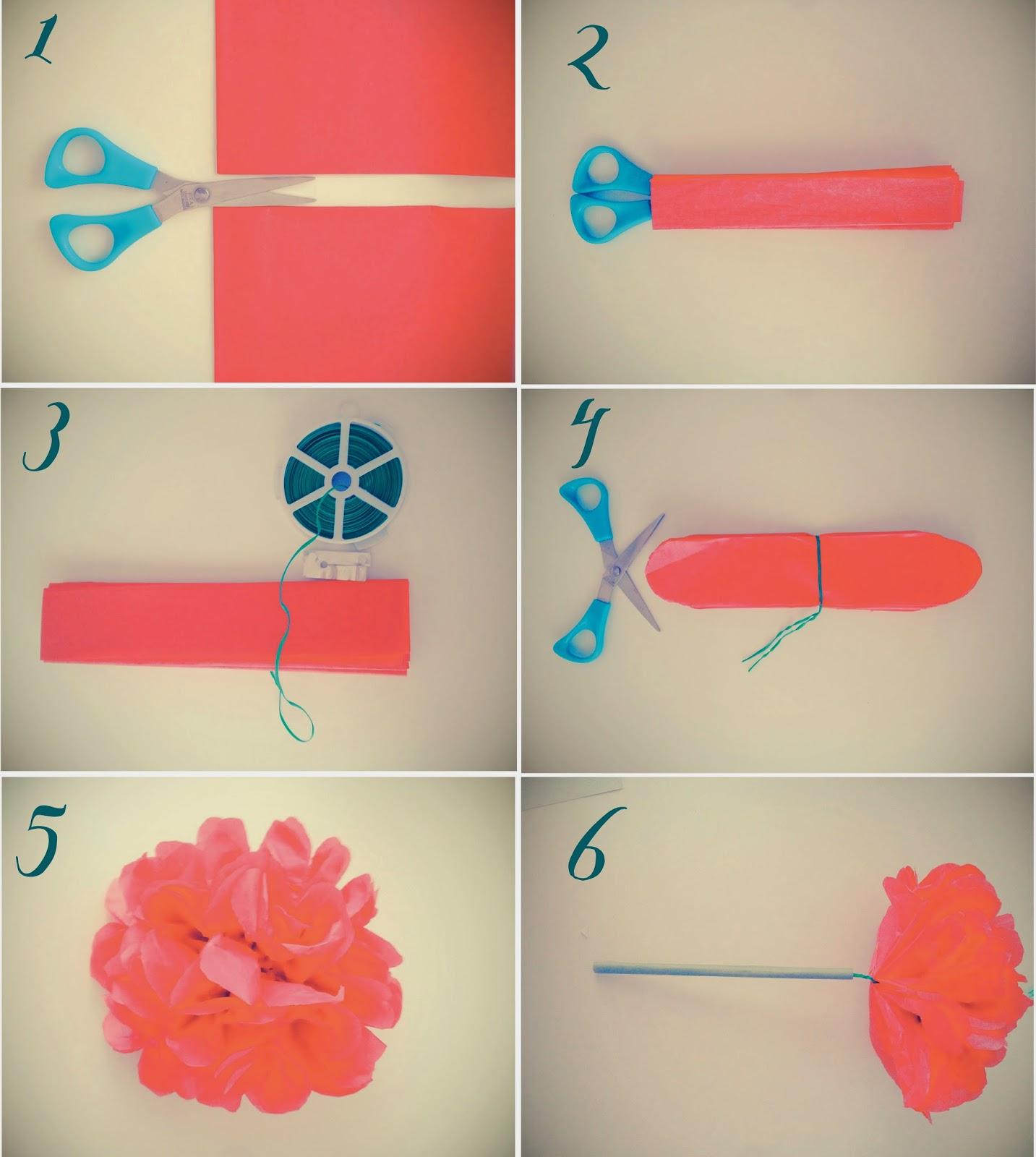 La novia hipster tutorial c mo hacer flores con papel de - Como se hacen flores de papel ...