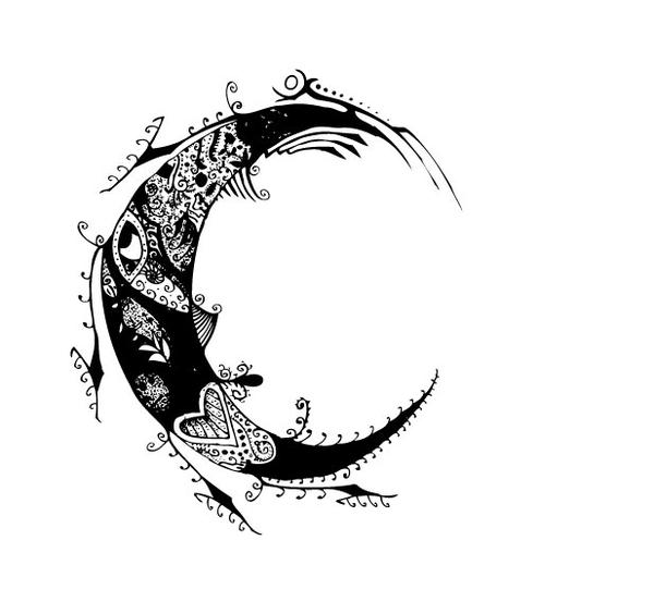 Moon Tattoo Designs Hannikateblogspotcomjpg