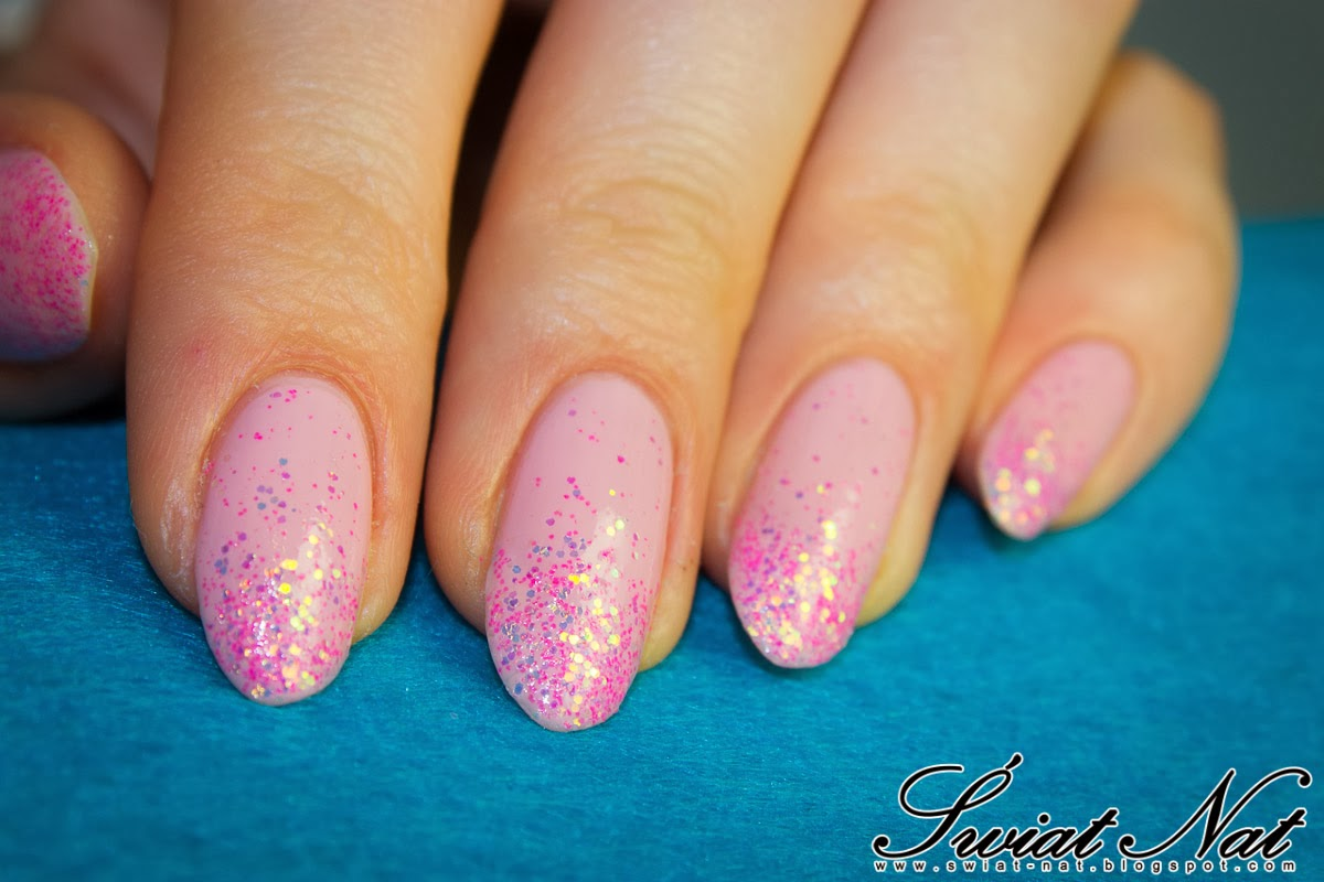 glitter nailart pink wedding bride colour alike