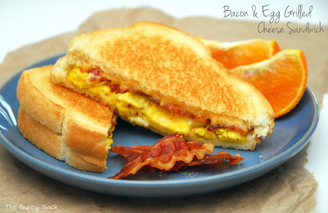 Bacon & Egg Grilled Cheese Sandwich - The Gunny Sack