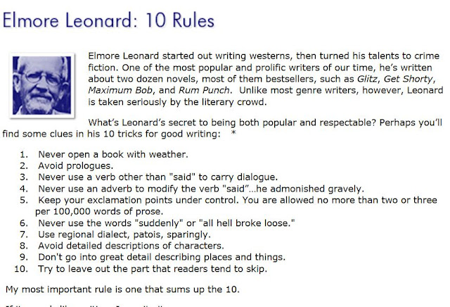 elmore leonard writing rules