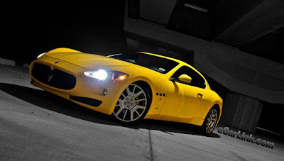 Maserati Supercar Yellow Car