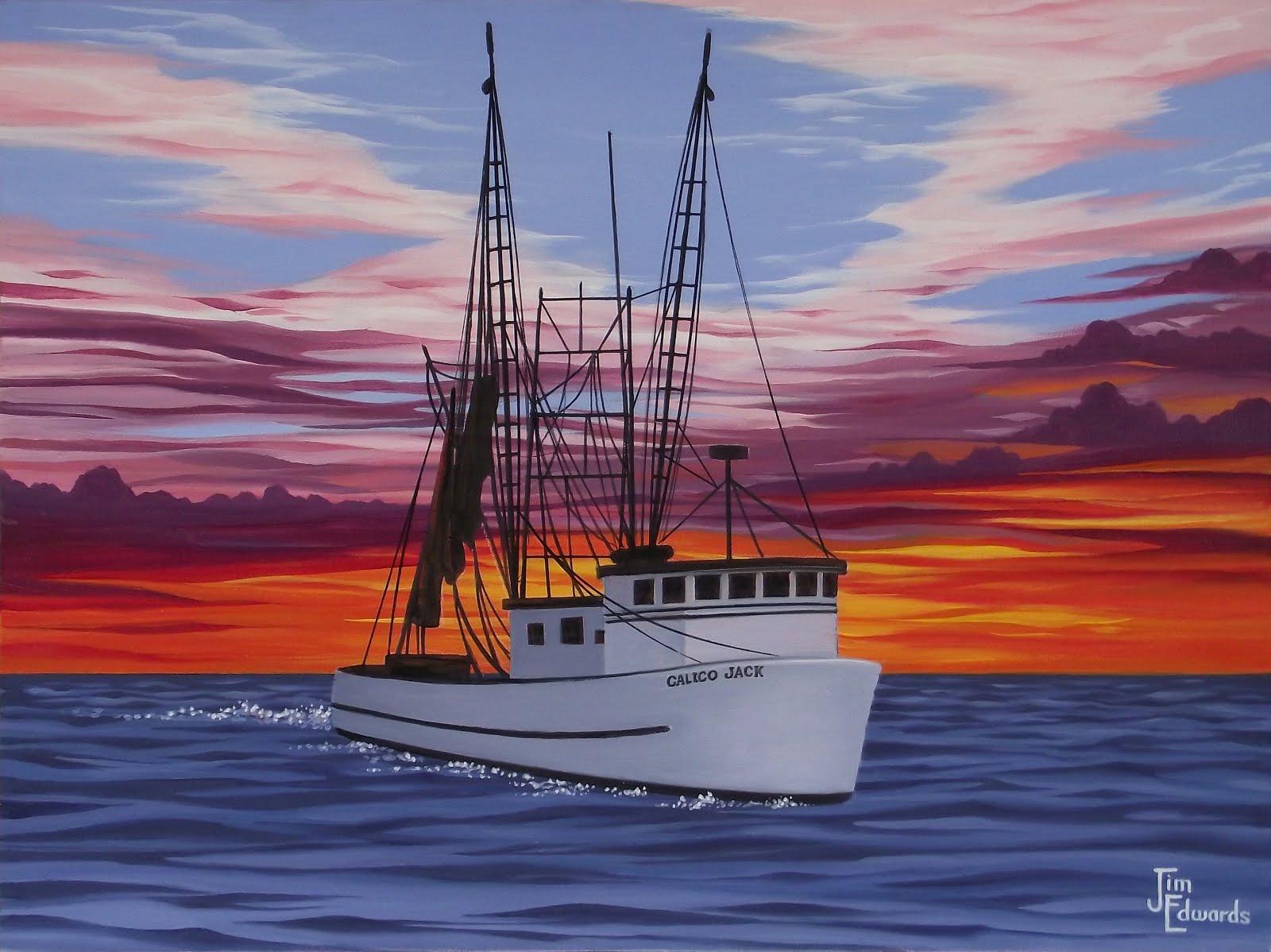 Calico Jacks at Sea 18 x 24