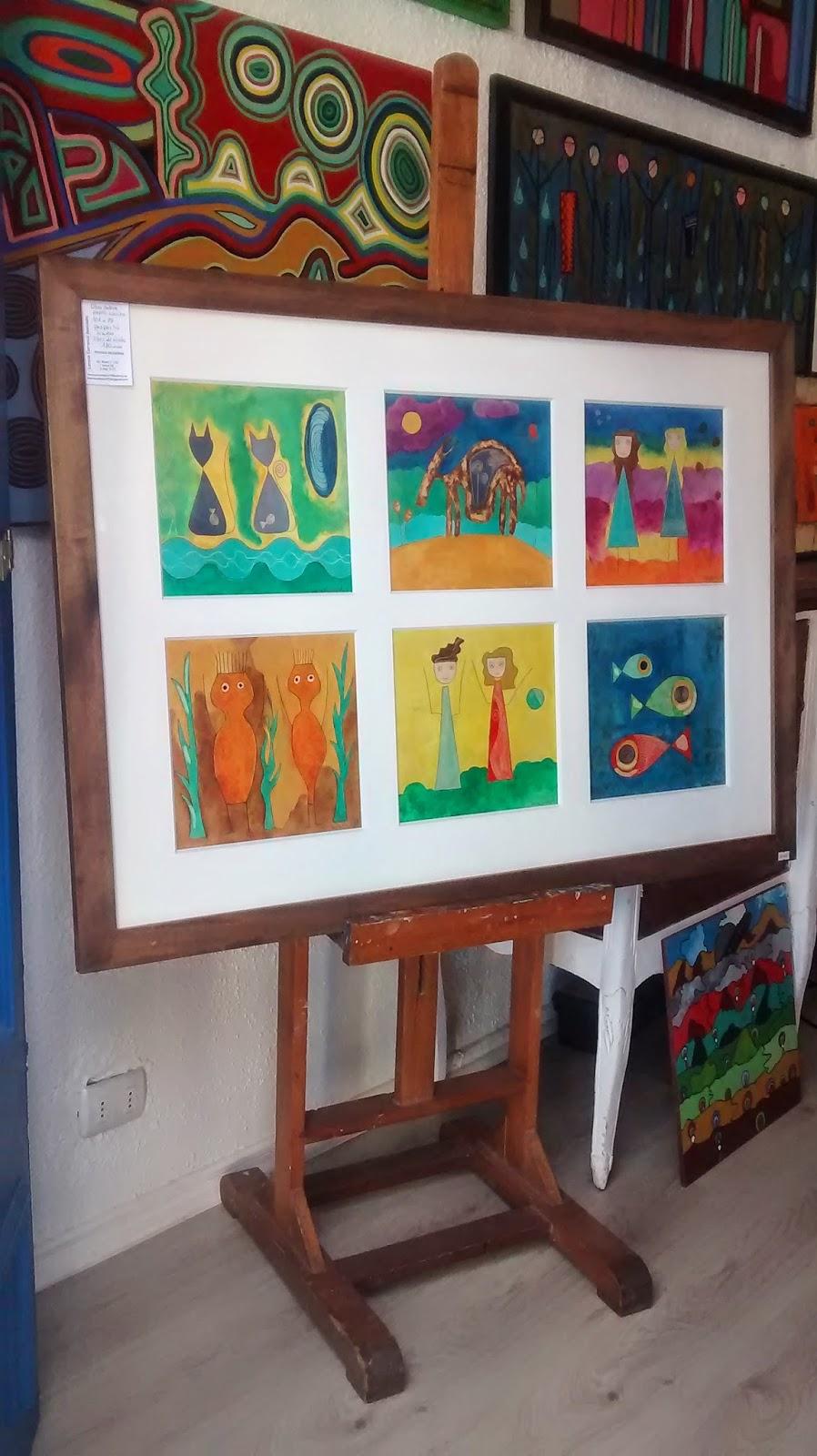 Pintura Moderna Lorena Carrasco: VENDIDO. Cuadro enmarcado, seis ...