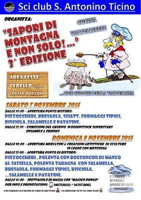 Sapori di Montagna e non Solo....... 7  e 8 Novembre Lonate Pozzolo (VA)