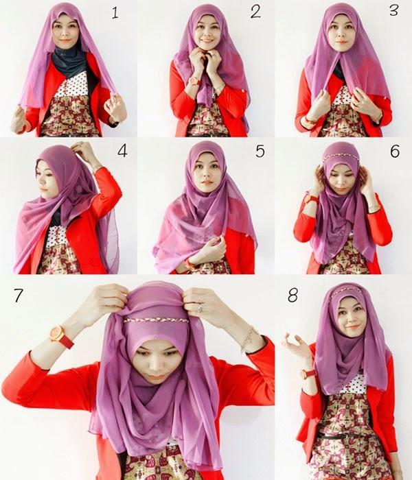 Model Hijab Terbaru Segi Empat dan Cara Memakainya
