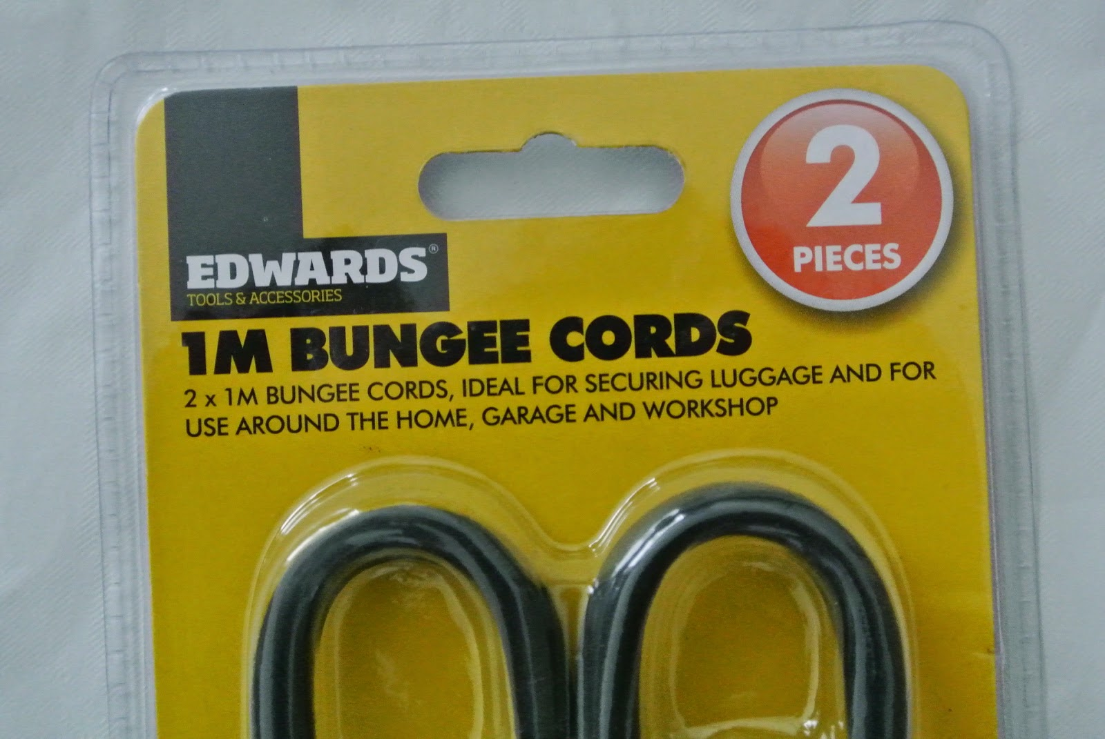 Poundworld pair of 1m bungee cords
