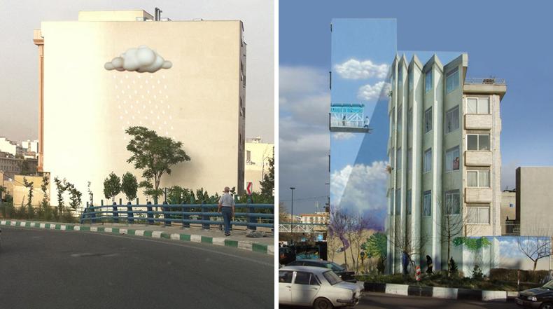Murales vibrantes y alegres llenan de color las calles de Teherán