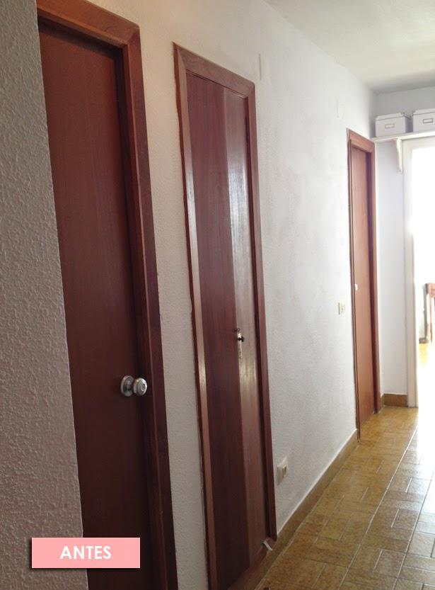 El antes y despu s de las puertas de mi casa de viejunas - Como pintar una puerta de madera con brocha ...