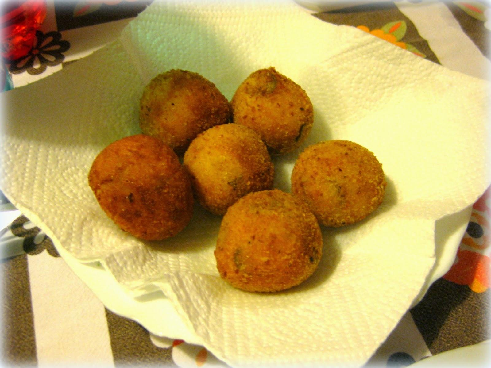 crocchette rustiche di olive e patate