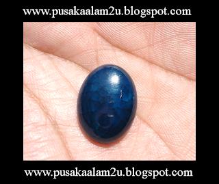 Batu Akik Biru Sisik Naga ( SOLD )