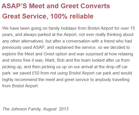 Airport parking, Bristol, ASAP Absolutely Secure Airport Parking, Meet and Greet, Bristol City Airport, Car Parking