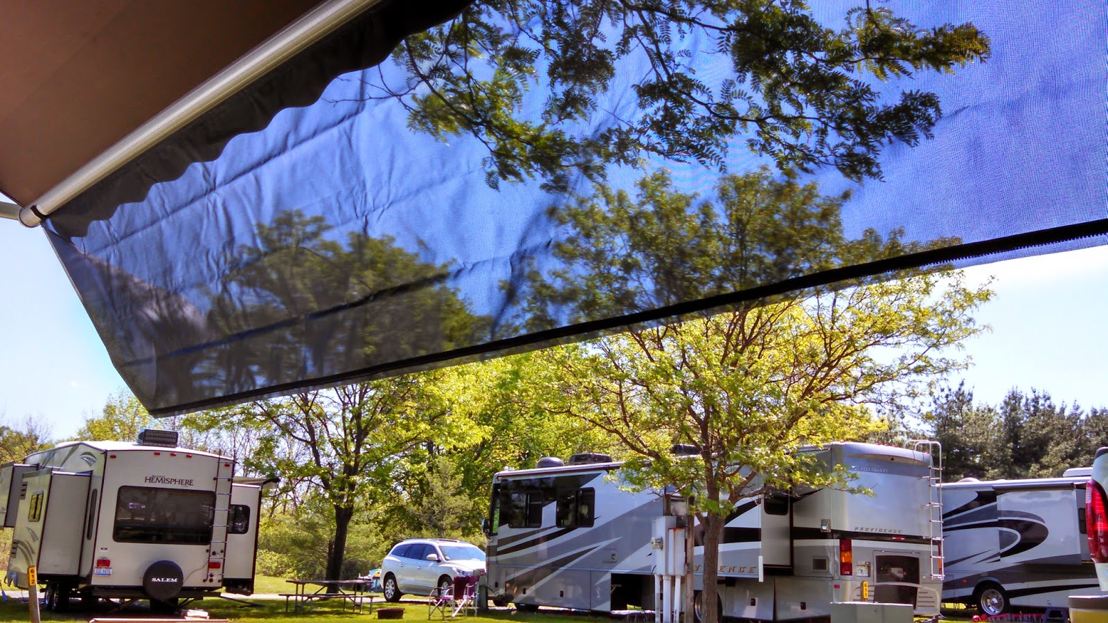 out rv wall side sunscreen screen caravan awning products shade end privacy grey qozy roll