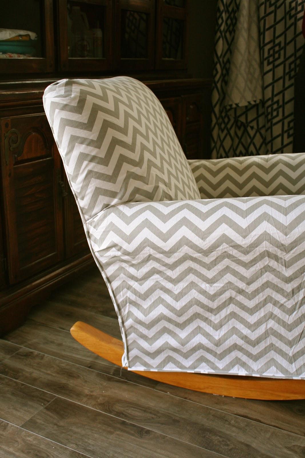 Custom Slipcovers By Shelley Chevron Nursery Rocker