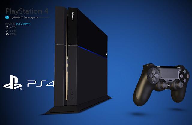 PS4 3D Render
