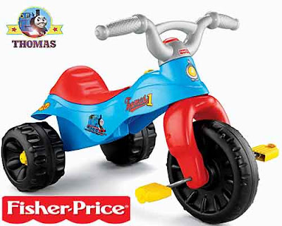 Toddlers fun to play Thomas the tank engine ride on toy Trike wheel base easy to hold handlebars