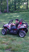Driving his 'go cart' all by himself