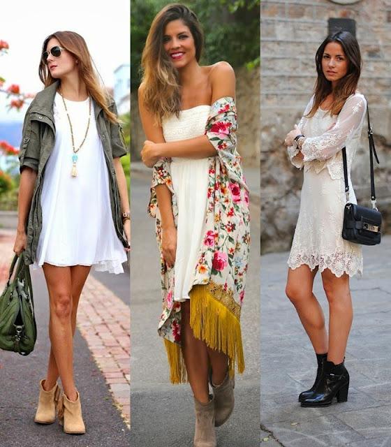 Look botins com vestido anakle boots  -  tendencia verão 2015