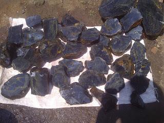 bahan Batu akik Blue Oval