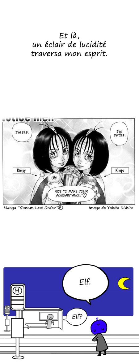 """Cyellen se souvient grâce au manga Gunnm que """"elf"""" signifie onze en allemand"""