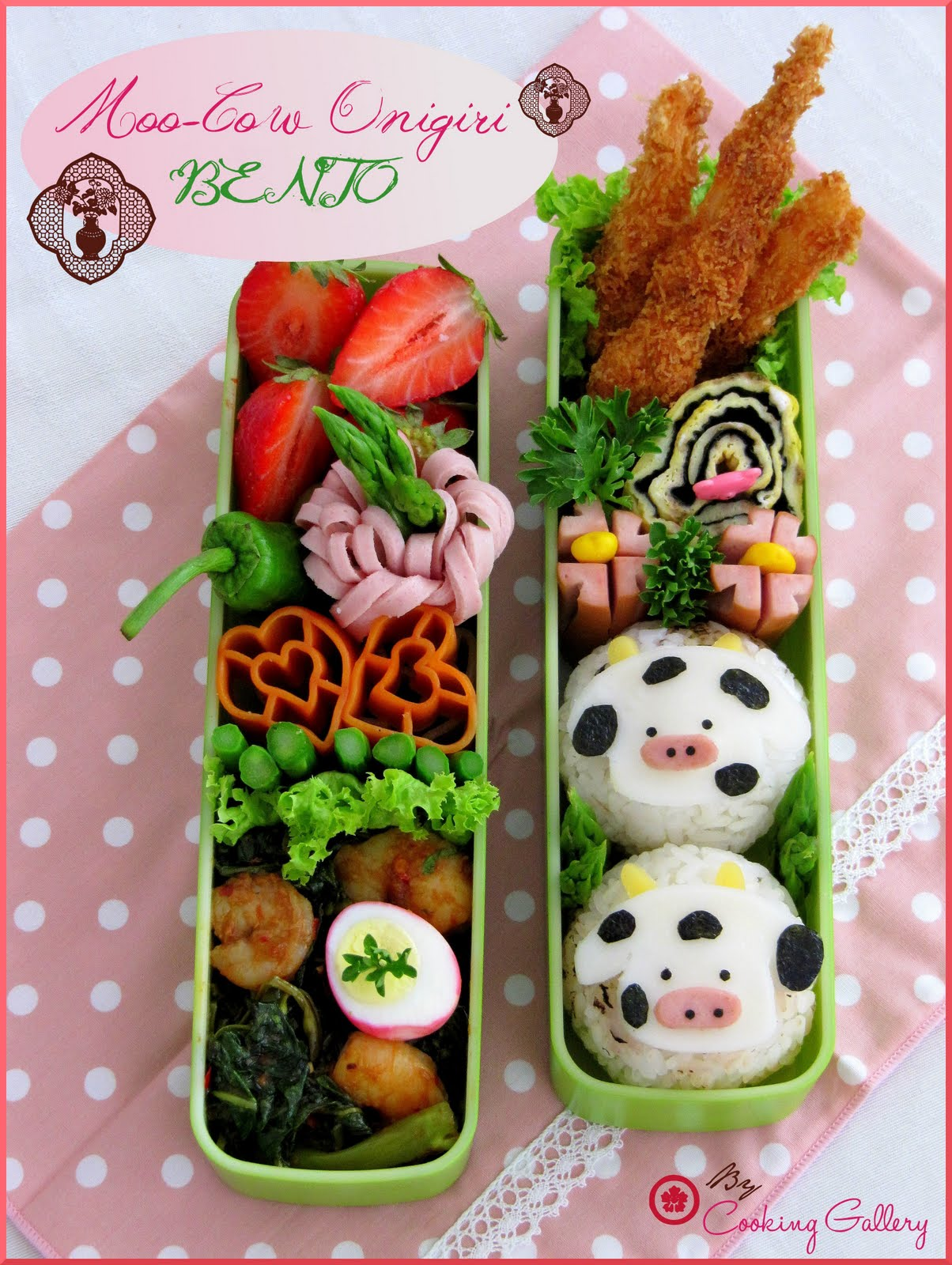Onigiri Bento Moo-Cow Onigiri...