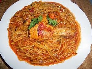 Recette du Spaghetti sauce tomates et poulet