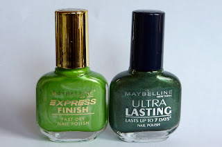 Maybelline Nail Polishes in Electric Apple and Racing Green