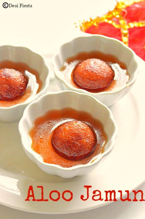 Gulab jamun with Potato