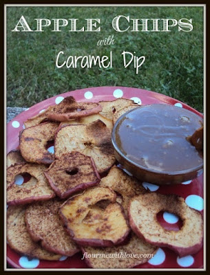 apples, caramel, dip, chips, dessert, recipe