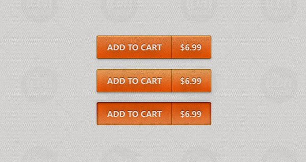 Add To Cart Buttons PSD